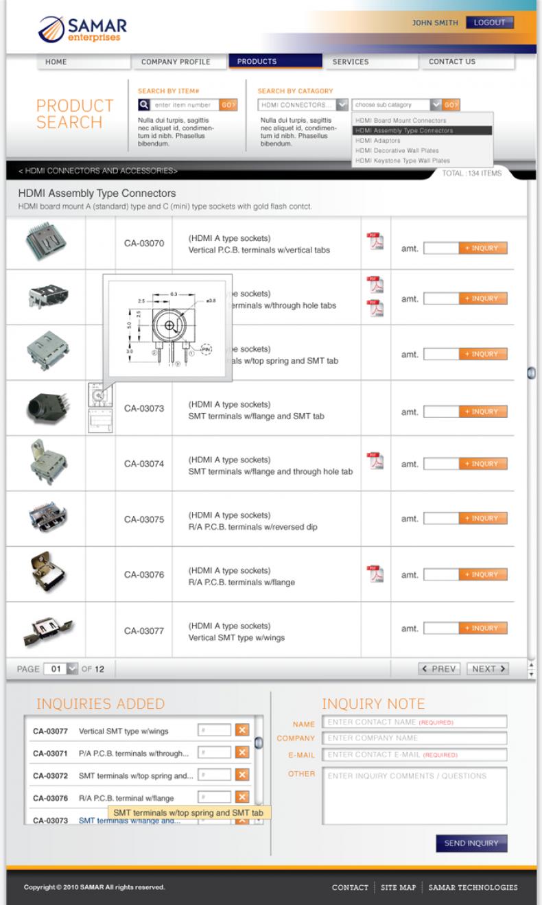 馬克錸網站設計 > 網站設計圖展示 憶中科技有限公司 SAMAR TECHTRONIC CORP.
